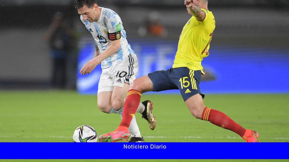 Argentina se quedó y Colombia empató en la última jugada