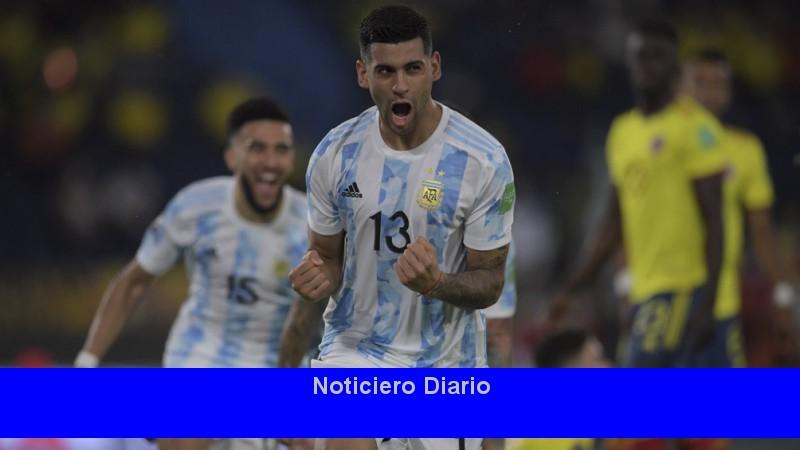 Los goles del agonizante empate entre Argentina y Colombia