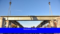 Completaron la colocación de un puente sobre las vías de la Línea Sarmiento