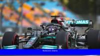 En el equipo Mercedes estudian cambios para el coche de Lewis Hamilton tras la sanción