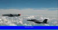 La Marina de EE. UU. Y Boeing logran repostar un caza con un dron en vuelo por primera vez