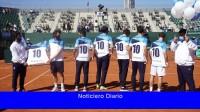 La selección argentina rindió homenaje a Diego Maradona