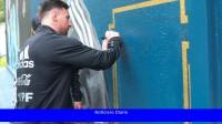 Los campeones de América ya tienen su mural en las instalaciones de AFA