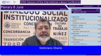 Martínez defendió al Consejo Económico y Social de la OIT y pidió un nuevo pacto social