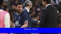 Messi mostró su enfado al ser sustituido por Pochettino