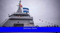 Rossi encabezó una revista naval por la llegada de la patrullera ARA Piedrabuena
