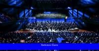 Una sala de conciertos temporal espera una audiencia permanente